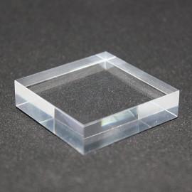 Socle acrylique brut 40x40x10mm supports pour minéraux