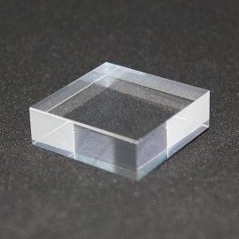 Crude acrylic Plexis Cristal base 30x30x10mm display for minerals