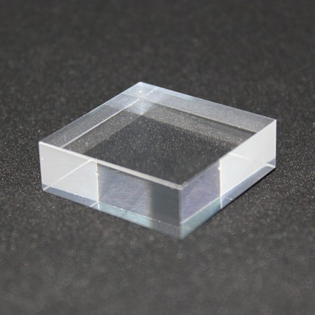 Crude acrylic base 30x30x10mm display for minerals Plexis Cristal