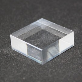 Socle présentoir acrylique 25x25x10mm brut