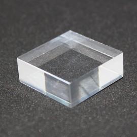 Socle acrylique, angle droit, 25x25x15mm