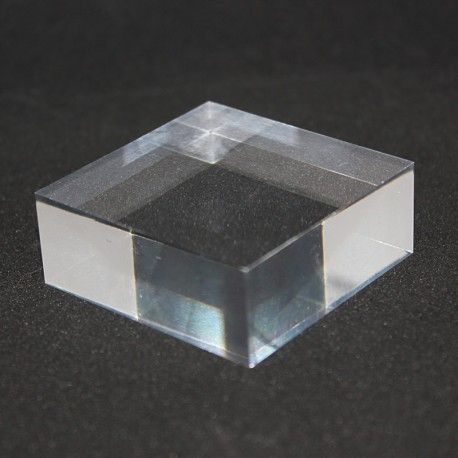 Crude acrylic display base 50x50x20mm media for minerals
