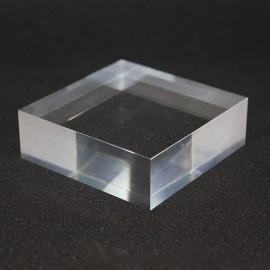 Socle acrylique angle droit : 60x60x20mm
