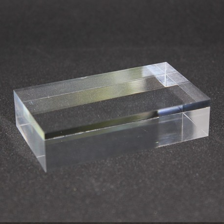 Crude acrylic rectangular base mineral collection display 80x40x20mm