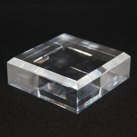 Socle acrylique, angles biseautés :  60x60x20mm