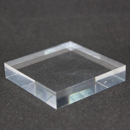 Crude acrylic base 50x50x10mm display for minerals