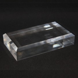 Acrylic display, with bevelled edge : 120x70x25mm