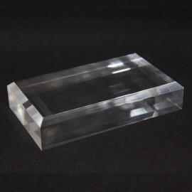 Support 120x70x25mm angles biseautés présentoir vitrine