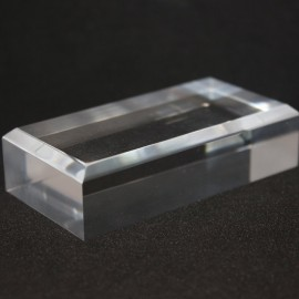 Acrylic base 50x100x20mm bevelled angles media for minerals