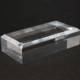 Acrylic display, bevelled edge : 50x100x20mm