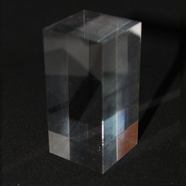 Acrylic display 60x30x30mm prism bases for minerals