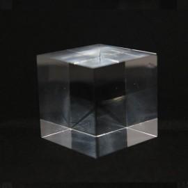 Socle acrylique cube 40x40x40mm supports pour minéraux