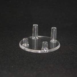 Supporto 4 piedini 45mm di diametro in plastica per il supporto minerali