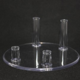 Unterstützung 4 Kunststofffüße für die Unterstützung Mineralien Durchmesser 100mm