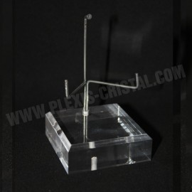 Socle angle biseauté support métal modulable 30x30x20mm