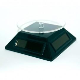 Rotierenden Sockeln dreieckigen Solarenergie, schwarz