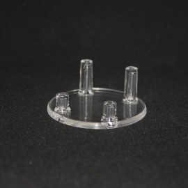 Lot 12pieces : Support 4 pieds diamètre 45mm plastique pour mineraux