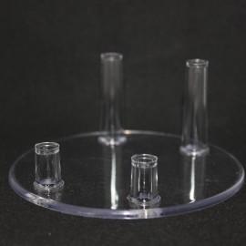 Lot 100 pièces :Support 4 pieds diamètre 100mm plastique pour support mineraux diamètre 100mm