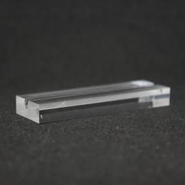 Lot 100 pedazos : Titular de la tarjeta de cristal acrílico calidad 70x20x6mm