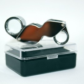 Magnifying monocle, luxury setting, dual-lens: 10x / 20x