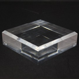 Acrylic base 120x120x30mm bevelled angles media for minerals
