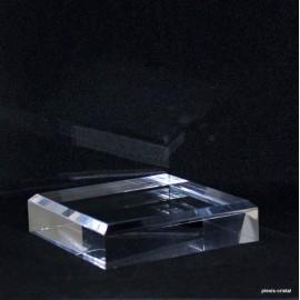 Présentoir acrylique biseautés 150x150x25mm