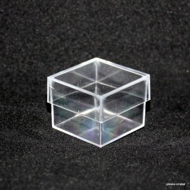 Transparent box :  23x23x20mm : lot 100 pieces