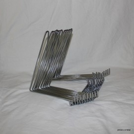 Lot 10 pieces : Metal chrome steel bridge supports for collection