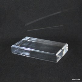 Acrylic base 70x120x20mm bevelled angles media for minerals