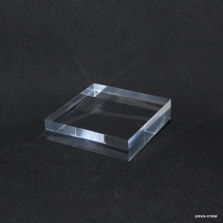 Crude acrylic base 80x80x20mm display for minerals