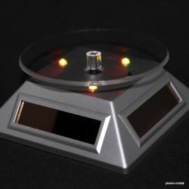 Rotating pedestals triangular solar energy, grey, with multicolour LED light