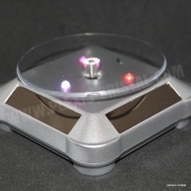 Rotating pedestals round solar energy, grey, with multicolour LED light