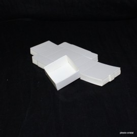 Lot 50 Boîtes Cartons Modulaires blanches : 43x43x18mm