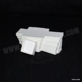 Lot 50 white cardboard boxes Modular :56x51x25mm
