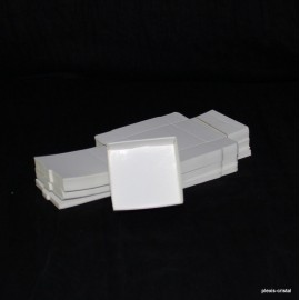 Lot 50 white cardboard boxes Modular : 65x63x25mm