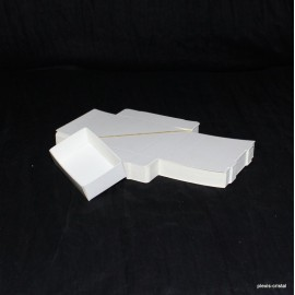 Lot 50 Boîtes Cartons Modulaires blanches : 79x51x25mm