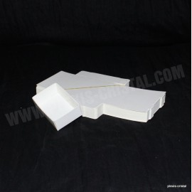 Lot 50 white cardboard boxes Modular : 79x51x25mm