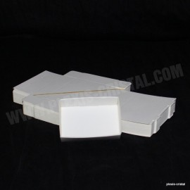 Lot 50 Boîtes Cartons Modulaires blanches : 87x65x25mm