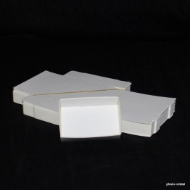 Lot 50 white cardboard boxes Modular : 87x65x25mm