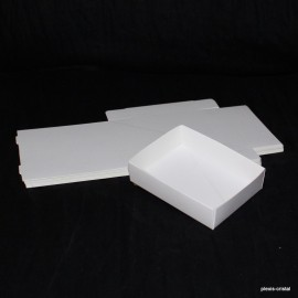 Lot 50 white cardboard boxes Modular : 98x87x30mm