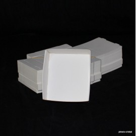 Lot 50 Boîtes Cartons Modulaires blanches : 130x99x30mm
