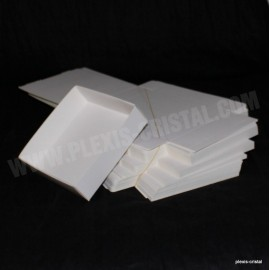 Lot 50 Boîtes Cartons Modulaires blanches : 130x130x35mm