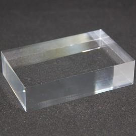Socle rectangulaire acrylique brut 80x50x20mm