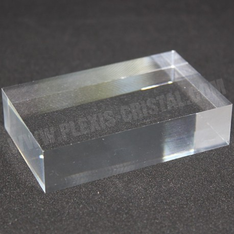 Crude acrylic rectangular base mineral collection display 80x50x20mm