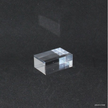 Crude acrylic base 30x45x20mm display for minerals