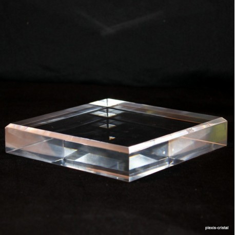 Acrylic base 150x150x30mm bevelled angles media for minerals