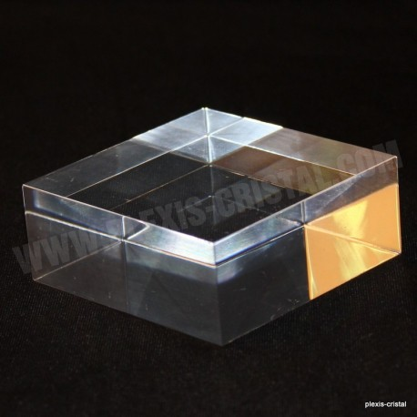 Crude acrylic base 100x100x30mm display for minerals