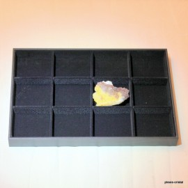 Plateau velours : 350x240x30mm, 12 cases :