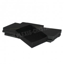 Lot 50 black cardboard boxes Modular : 90x120x30mm