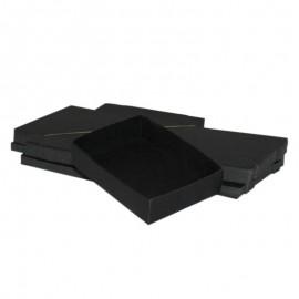 Lotto 50 scatole di cartone nere modulare : 90x120x30mm
